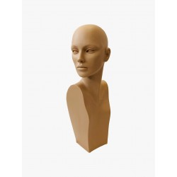 Testa donna con volto alto